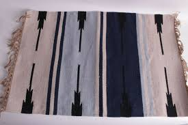 details about nwt pottery barn pb teen se stripe indoor outdoor rug 2 x 3 blue natural