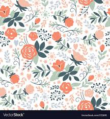 Floral Pattern Awesome Beauty Floral Pattern Royalty Free Vector Image