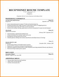 Sample Receptionist Resumes Sample Restaurant Resume