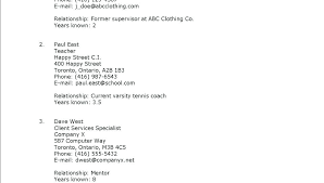 Listing References On Resume Listing References Creer Pro