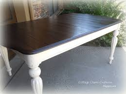 Two tone furniture painting Cherry Cottage Charm Creations Cottage Charm Creations Painting Twotone Table