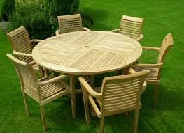 teak wood patio furniture set round table and chair teak wooden garden furniture sets large