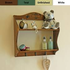 vintage brown wooden corner shelf two