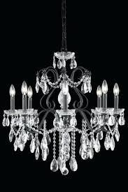 alma 6 light bronze chandelier st dark clear large