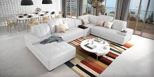 Designer Echtleder Couch Xxl Weiß Bolivia Spiegelverkehrt