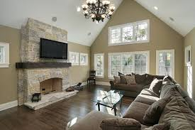 flooring ideas for family room. family room with stone fireplace and brown design flooring ideas for g