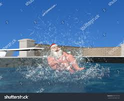 pool splash cannonball. Santa Pool: Claus Landing In A Pool To Complete His Cannonball Dive. Splash