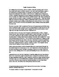 english descriptive writing gcse english marked by teachers com page 1 zoom in