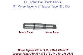Jacobs Taper Size Chart Mt Morse Taper To Jt Jacobs Taper Drill Chuck Arbors Id 3106