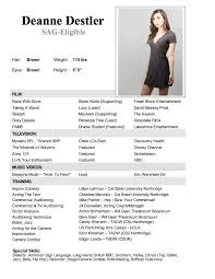 Actor Resume Examples Cool Theater Resume Example Colbroco