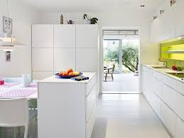Kitchen Bright White Modern Kitchen Renovation Mixed With Light - White modern kitchen