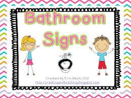 Preschool bathroom signs Free Printable Bathroom Signsfree Pinterest Bathroom Signsfree Cute Boarder Templates For Preschool