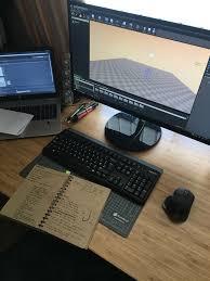 amazing office desk setup ideas 5. Pc Setup, Gaming Computer Station, Desk Ideas, Office Bedroom Desk, Study Inspiration, Games, Geek Stuff Amazing Setup Ideas 5