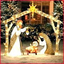 outdoor manger set life size nativity scene wooden white large sets woode