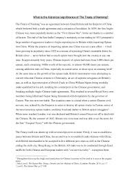 an analysis of the treaty of nanjing what is the historical significance of the treaty of nanking the treaty of nanking1 was
