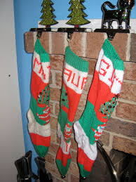 Handmade Christmas Stockings Decoration Fireplace Decor With Handmade Personalized Knitted