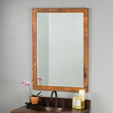 Milano Hammered Copper Rectangular Wall Mirrors CPM294 Native Trails