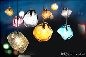 colorful pendant lights modern led lamp for home decoration hanging lighting restaurant hotel coffee light cord brushed large