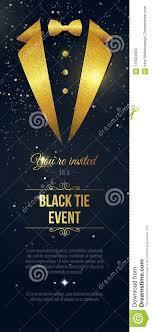 Vertical Black Tie Event Invitation Businessmen Banner Elegant