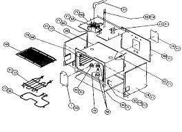 cps127 oven non conv oven parts diagram