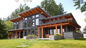Metal Frame Houses Modern Beachfront Timber Frame Island Timber Frame