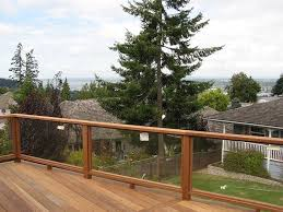 glass railing system deck tempered glass panels for deck railing
