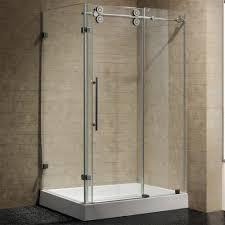 better 48 inch frameless shower door vigo pirouette 3 8 clear glass oil