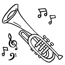 Small Picture Cornet is a Musical Instruments Coloring Pages Bulk Color