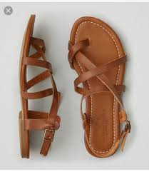 shoes brown leather sandals ankle strap strappy sandals brown cute sandals cute sandals american eagle outfitters