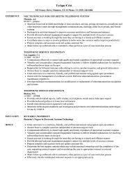 Rv Technician Resume Telephone Technician Resume Samples Bunch Ideas Of Telecom 19