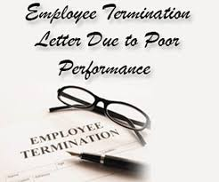 Employee Termination Letter Due To Poor Performance | Hr Letter Formats