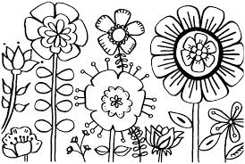 Coloring Pages For Spring Flowers Flower Coloring Sheets And Flower
