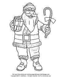 Small Picture Santa Claus with a Candy Cane Free Coloring Pages for Kids