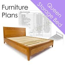 Storage bed plans King Size Image Etsy Storage Bed Plans Queen Size Bed With Drawers Platform Bed Etsy