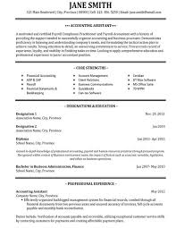 sample accounting student resume