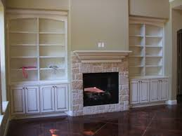Built In Cabinets Beside Fireplace Antique Inish Bookcases With Fireplace 018jpg