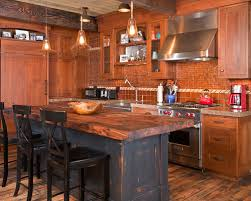 Exellent Rustic Kitchens With Islands Of A Mountain Style Galley Kitchen Design In Throughout Impressive Ideas