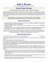It Support Engineer Sample Resume Resume Format For Desktop Support Engineer Lovely Extraordinary It 22