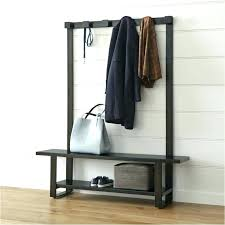 Coat Rack With Bench Seat Entryway Wood Hall Tree Coat Rack Storage Bench Hallway With Picture 46