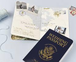 Us Passport Design Retro Passport Invitations Passport Wedding Invitations