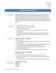 barista resume samples and tips