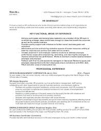 Sample Human Resource Resumes Sample Human Resources Resume Sample Hr Generalist Resume Entry
