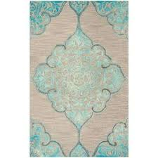 dip dye gray turquoise 5 ft x 8 ft area rug