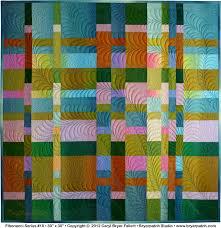 Fibonacci Series #10 © 2012 art quilt by Caryl Bryer Fallert ... & Front ... Adamdwight.com