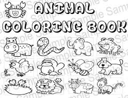Small Picture Coloring Book Animals Pdf Coloring Pages