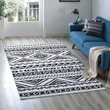 black and white tribal rug geometric tribal black white area rug black and white tribal print rug
