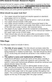 Apa General Format Research Papers Title Page Pdf