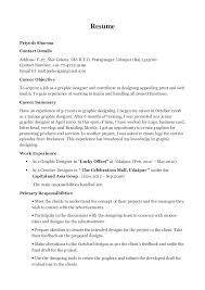 Designer Resume Classy Priyesh Graphic Designer Resume