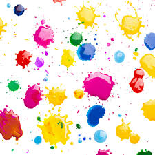 color splashes in yellow red blue pink and green abstract qhd wallpaper
