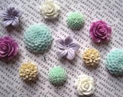 decorative office supplies. magnet set 12 pc lavender aqua and white decorative magnets flower office supplies